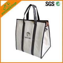 top quality 14oz canvas zipper shopping bag