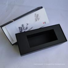 Boîte d'emballage de papier fait main rigide