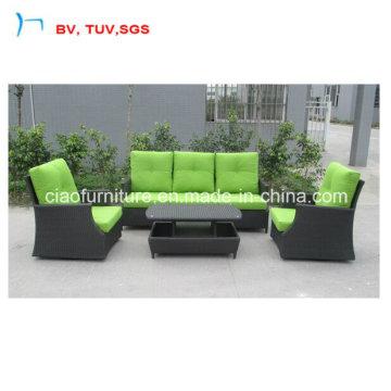 3+2 Sofa Set with Green Colour Cushion (CF1290A)