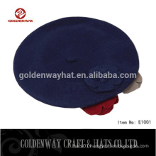 Hot Sale Women's Beret hat with Flower