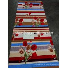 Т/с ВАХ кровать покрывая ткань с цветок печати