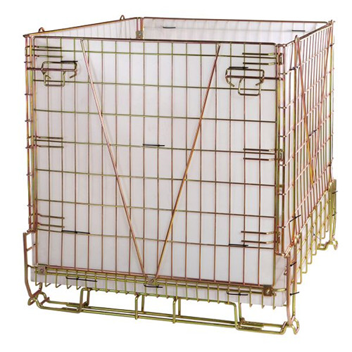 Storage cage on the shelves