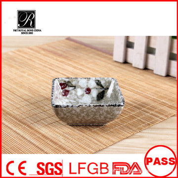 Hotel wholesale Ceramic hand made square dishes sauce dish