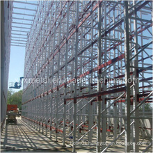 Supported Building Installation During Construction Pallet Rack