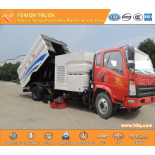 HOWO multifunctional airport runway sweeper truck