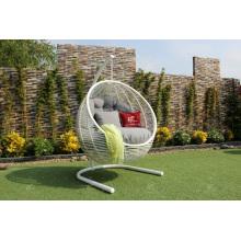 Elegante Hamac De Rattan Sintético - Cadeira Swing Com Forma Redonda Para Jardim Ao Ar Livre Mobília De Vime Patio