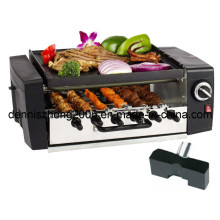 1200-Watt 2-Tier Grill/Griddle with Automatically Rotating Skewers, Electric Kabob Grill