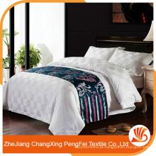 Folha de cama de tecido têxtil de estilo branco de estilo clássico