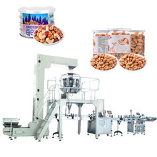 Nuts Filling Canning Packaging machine in Paper cans