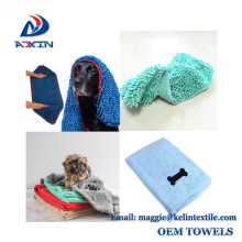 Hot Sale Quick Dry 40x70cm Embroidery Logo Pet Microfiber Towels