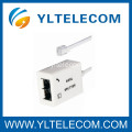 Dual Port ADSL / VDSL Splitter Phone Splitter with Network Cable