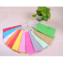 Different Colors Cheap Custom Kraft Paper Bag