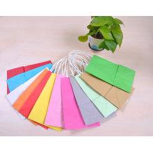 Различные цвета Дешевые пользовательских Kraft Paper Bag