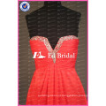 Beaded Sweetheart Ruched Bodice Short A Line Chiffon Red Bridesmaid Dress Patterns