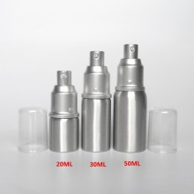High Quality 150ml Silver Aluminum Shampoo Bottle, Aluminum Pump Bottle for Cosmetic Packaging