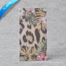 Diseño personalizado Papel reciclado Garmant Hang Tag y etiqueta de precio
