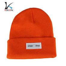 Custom Plain Hip Hop Beanie Winter High Quality Blank Knit Beanie Hat Woven Label Beanie With Custom design Logo