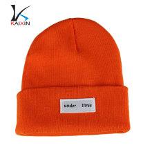 Пользовательские обычный Хип-Хоп шапочки зимние высокое качество пустой трикотажа beanie шляпа тканые этикетки Шапочка с изготовленным на заказ Логосом конструкции