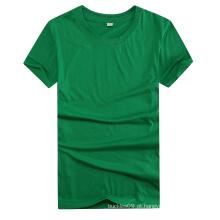 O costume imprimiu sua camisa a mais barata do poliéster do logotipo para relativo à promoção