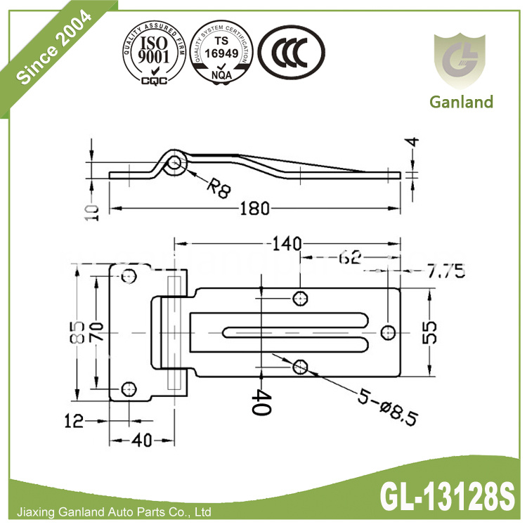 trailer door hinge speciifation GL-13128S
