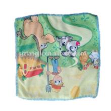 Serviette en tissu matériel microfibre personnalisé pas cher, serviette imprimée dessin animé, serviette pour les enfants