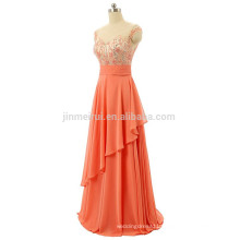 Plus Size Evening Dress 2016 Abendkleider A-line Scoop Ctystal Beading Chiffon Free Prom Dress Long Robe De Soiree