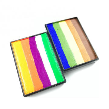 Rainbow split cake pintura facial Color