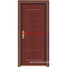 Interior veneer wood door