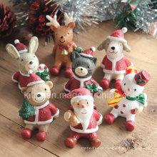 Presente de Natal, figura de ação de plástico de decoração para o Natal, brinquedo