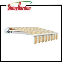 Manual Patio 10 '* 8' Aluminio Retráctil Cubierta Solar Puerta Toldo Sombrilla Refugio Canopy Piezas al aire libre