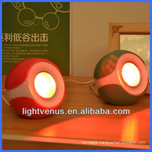 Multi-color changing CE and RoHS approved rechargeable remote control indoor decorative portable led mood light