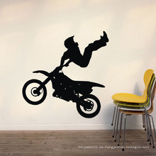 Inicio Pegatinas de pared de alta calidad Durable Moto Man Design Pvc Room Decor pared de vinilo pegatinas decorativas