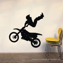 Casa Adesivos de Parede de Alta Qualidade Durável Homem Moto Design Pvc Room Decor Vinil Adesivos Decorativos de Parede