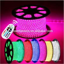 100 M Impermeable 220 V 14.4 W / metro 5050 Flexible RGB LED Luz de Tira con 24 teclas de control remoto