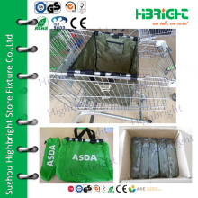 supermarket 210D reusable shopping trolley tote bags