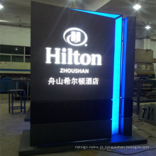 Lightbox de publicidade stand de exibição com iluminação LED