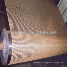 Customized food grade non stick fibergalss mesh conveyor belt for electric oven