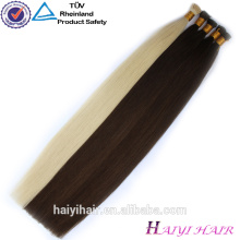 Guangzhou 100% Keratin 0,5G Fusion Remy Doppel gezogene I-Tip Haarverlängerung