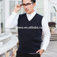 boutique quality man's worsted cashmere knitting vest