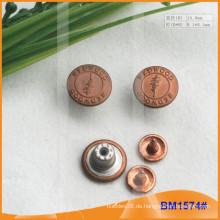 Metallknopf, kundenspezifische Jean-Knöpfe BM1574