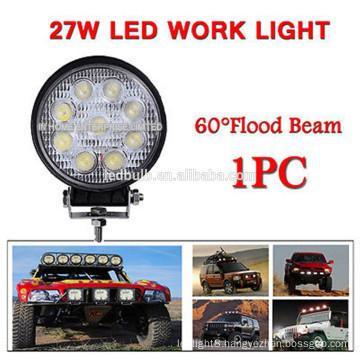Hot Selling DC 12V 27W led work light, SUV ATV Offroad work led light