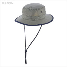 custom nylon plain panama mens grey bucket hat