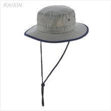 costume nylon planície panamá mens cinza chapéu de balde