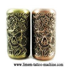 Crâne Emboss matériel de poignée de tatouage Alliage tube de tatouage 25mm poignées