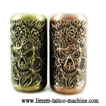 Skull Emboss tattoo grip material Alloy tattoo tube 25mm grips