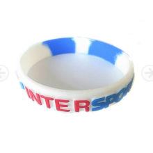 Personalisierte benutzerdefinierte Logo Silikon Armband für Geschenke