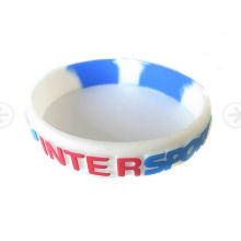Bracelet fait sur commande personnalisé de silicone de logo pour des cadeaux