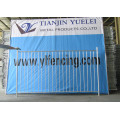 Panneau de clôture en métal soudé à l'industrie / panneau de clôture en treillis métallique / panneau de clôture temporaire / panneaux de clôture en tube d'acier