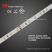 Wasserdichter hoher CRI Epistar 2835 flexibler LED-Streifen