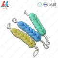 7sides single color bath belt sponge ball